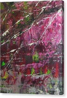 Canvas Print featuring the painting Tickled Pink by Lucy Matta