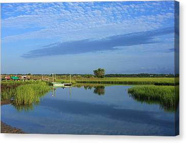 Tidal Marsh At Wrightsville Beach Canvas Print