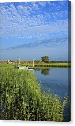 Tidal Marsh Wrightsville Beach Canvas Print by Mountains to the Sea Photo
