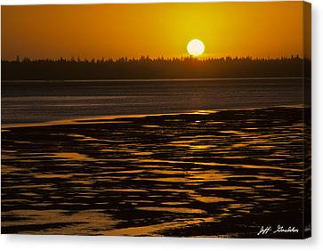 Tidal Pattern At Sunset Canvas Print by Jeff Goulden