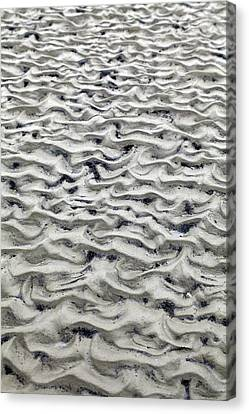 Tidal Sand Ripples Canvas Print by Dirk Wiersma