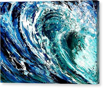 Tidal Wave Canvas Print by Suzanne King