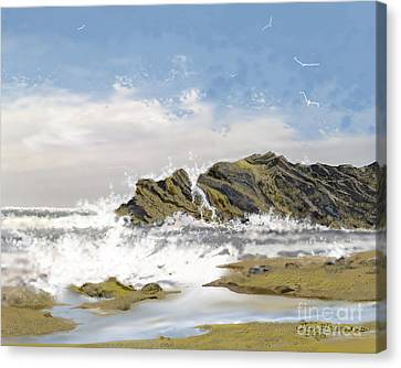Tide Is Coming In Canvas Print by Jim Hubbard