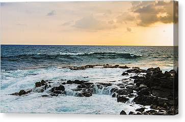Tide Pool Sunsets In Hawaii Canvas Print by Brandon McClintock