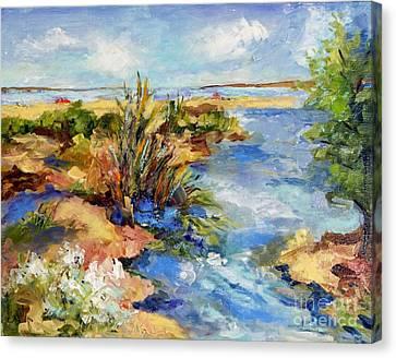 Tide Pools Canvas Print by Sharon Furner