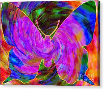 Tie-dye Butterfly Canvas Print