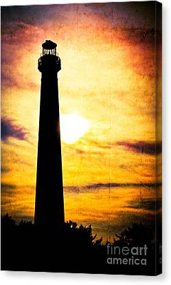 Tie Dye Sky - Lighthouse Canvas Print by Colleen Kammerer