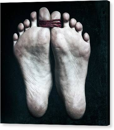 Tied Big Toes Canvas Print by Joana Kruse