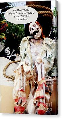 Canvas Print featuring the photograph Tied Up Pirate by Gary Brandes