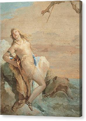 Tiepolo Giambattista, Ruggiero Saving Canvas Print