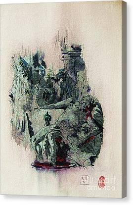 Tiepolos  Death Of Seneca Canvas Print by Roberto Prusso