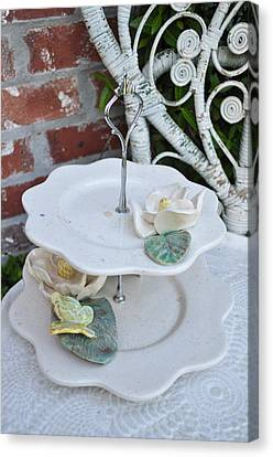 Tiered Up Canvas Print by Amanda  Sanford
