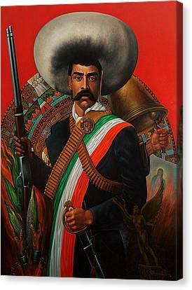 Tierra De Temporal Zapata Canvas Print