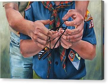 Ties That Bind Canvas Print by Lori Brackett