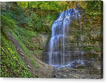 Canvas Print featuring the photograph Tiffany Falls In Summer by Gary Hall