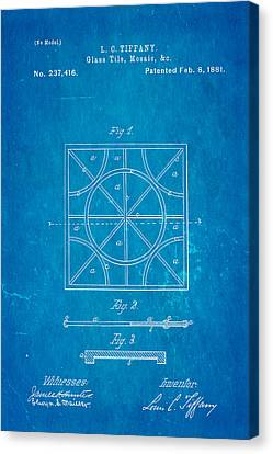 Quilter Canvas Print - Tiffany Glass Patent Art 1881 Blueprint by Ian Monk