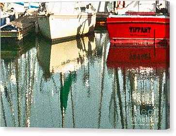 Tiffany Sailed From San Francisco To Moss Landing Canvas Print by Artist and Photographer Laura Wrede