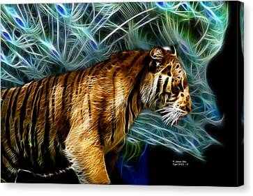 Tiger 3921 - F Canvas Print by James Ahn