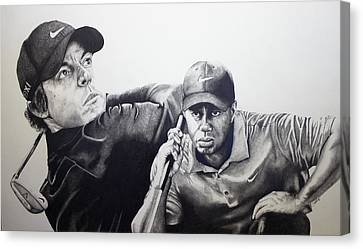 Tiger And Rory Canvas Print by Jake Stapleton