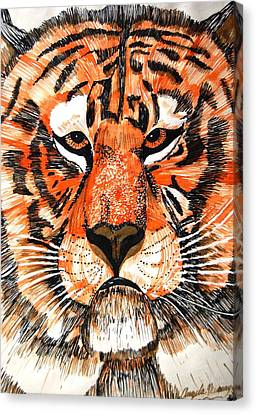 Tiger Canvas Print by Angela Murray