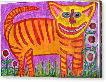 Tiger Cat Canvas Print by Cher Shaffer