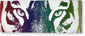 Tiger Eyes Canvas Print