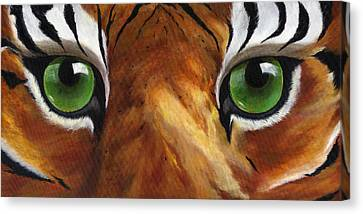 Tiger Eyes Canvas Print by Donna Tucker
