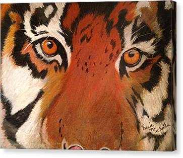 Tiger Eyes Canvas Print by Renee Michelle Wenker