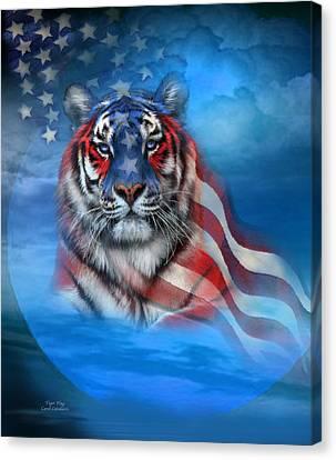 Tiger Flag Canvas Print