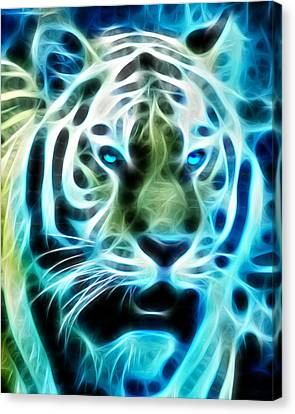 Tiger Fractal Canvas Print
