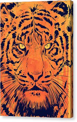 Tiger Canvas Print by Giuseppe Cristiano