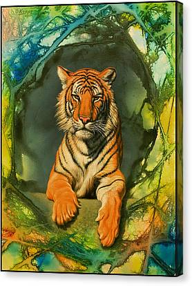 Tiger In Abstract Canvas Print by Paul Krapf