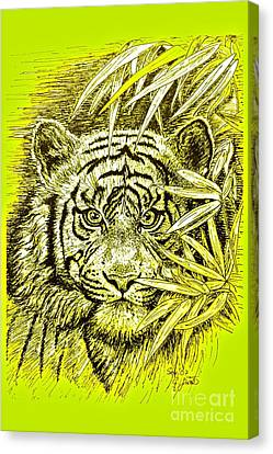 Tiger - King Of The Jungle Canvas Print by Gitta Glaeser
