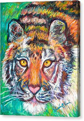 Tiger Lean Canvas Print by Kendall Kessler