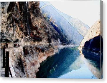 Deep River County Park Canvas Print - Tiger Leaping Gorge 2 by Lanjee Chee