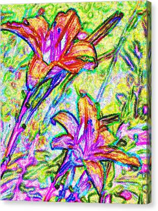 Tiger Lillies Canvas Print by Ian  MacDonald