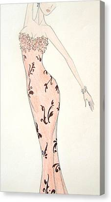 Tiger Lily Dress Canvas Print by Christine Corretti