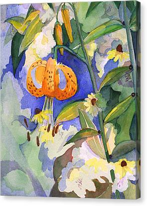 Tiger Lily In Dappled Light  Canvas Print