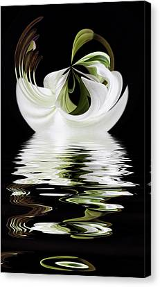 Tiger Lily Reflected Canvas Print by Cyndy Doty