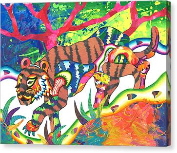 Michael Canvas Print - Taonga - Tiger by Michael Andrew Frain