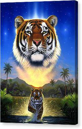 Tiger Canvas Print - Tiger Of The Lake by Chris Heitt