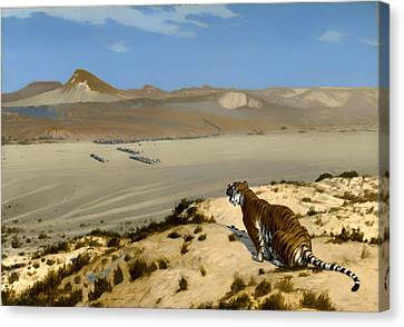 Tiger On Watch Canvas Print by Mountain Dreams
