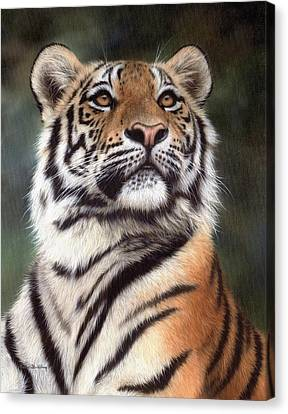 Tiger Painting Canvas Print by Rachel Stribbling