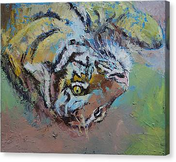 Abstract Wildlife Canvas Print - Tiger Play by Michael Creese