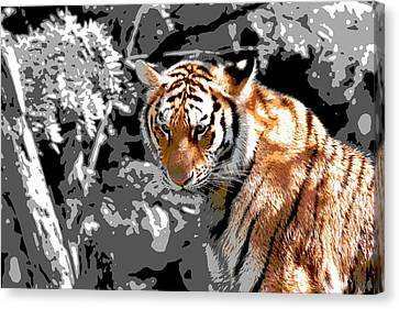 The Tiger Hunt Canvas Print - Tiger Poster by Dan Sproul