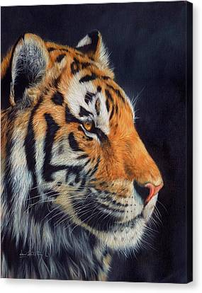 Tiger Profile Canvas Print by David Stribbling