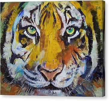 Tiger Psy Trance Canvas Print
