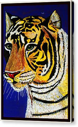 Tiger Canvas Print by Saundra Myles