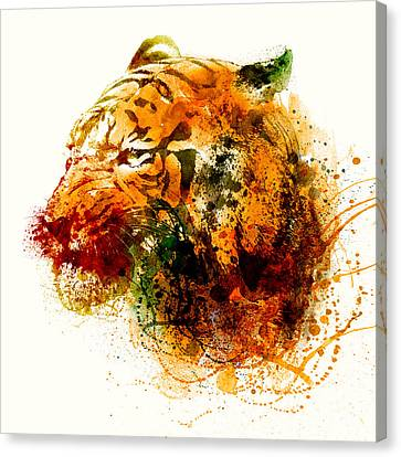 Tiger Side Face Canvas Print