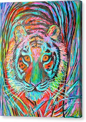 Tiger Stare Canvas Print by Kendall Kessler